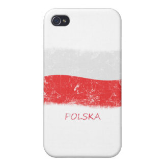 Grunge Poland Flag iPhone 4/4S Cover