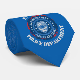 Grunge Police Department Seal Tie