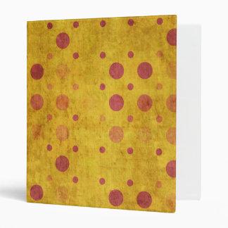 Grunge Polka Dots 3 Ring Binders