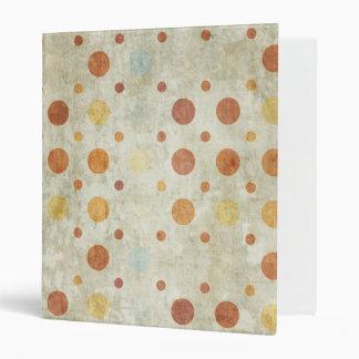 Grunge Polka Dots Vinyl Binder