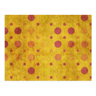 Grunge Polka Dots Postcard