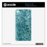 Grunge Polka Dots Skin For iPhone 4S