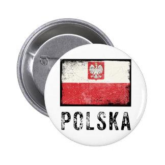 Grunge Polska Pinback Button