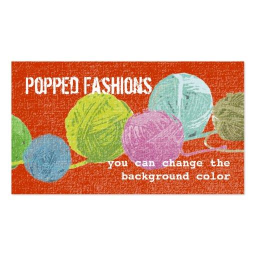 Grunge pop art balls of yarn knitting crochet card