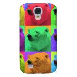 Grunge Pop Art Popart Polar Bear Closeup Colorful Galaxy S4 Cases
