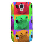 Grunge Pop Art Popart Polar Bear Closeup Colorful Samsung Galaxy S4 Covers
