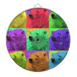Grunge Pop Art Popart Polar Bear Closeup Colorful Dart Board