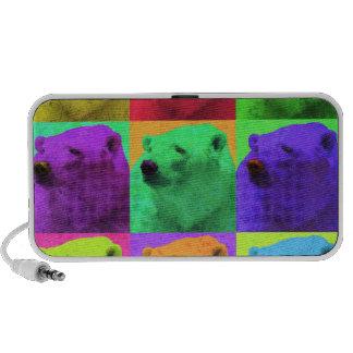 Grunge Pop Art Popart Polar Bear Closeup Colorful Mp3 Speaker