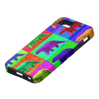 Grunge Pop Art Popart Polar Bear Multi-Panel iPhone SE/5/5s Case