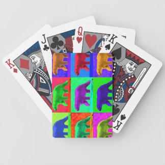 Grunge Pop Art Popart Polar Bear Multi-Panel Poker Cards