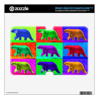 Grunge Pop Art Popart Polar Bear Multi-Panel WD My Passport Skins