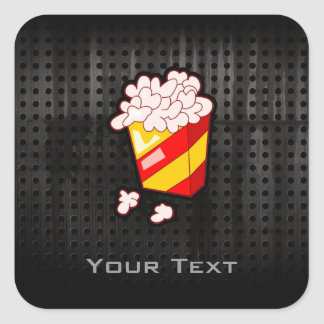 Grunge Popcorn Square Sticker
