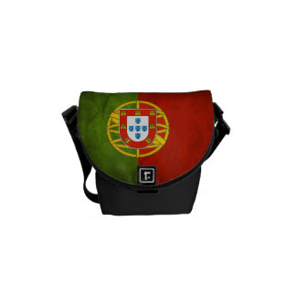 Grunge Portugal Flag Mini Commuter Messenger Bag