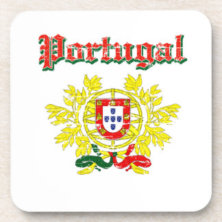 Grunge Portuguese coat of arms designs Drink Coaster