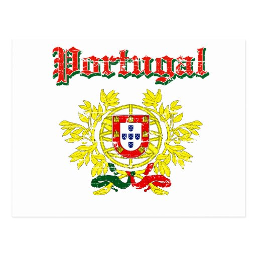 Grunge Portuguese coat of arms designs Post Card