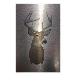 Grunge Primitive buck white tail deer Stationery