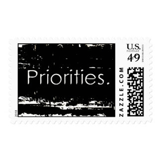 Grunge Priorities Postage