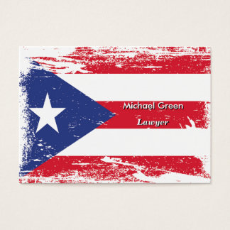 Grunge Puerto Rico Flag Business Card