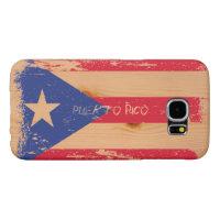 Grunge Puerto Rico Flag on Wood Samsung Galaxy S6 Case