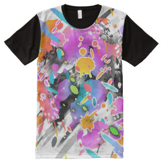 GRUNGE PUNK SPLATTER ART All-Over-Print SHIRT