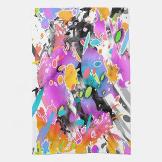 GRUNGE PUNK SPLATTER ART KITCHEN TOWEL