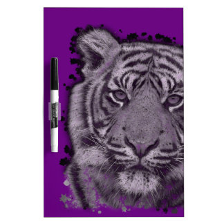 Grunge Purple Abstract Tiger Dry-Erase Board