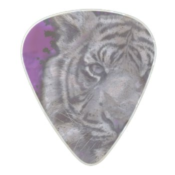 Grunge Purple Abstract Tiger Pearl Celluloid Guitar Pick by TeensEyeCandy at Zazzle