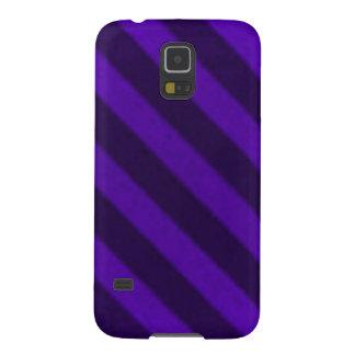 Grunge púrpura Amethyst de la raya del caramelo Carcasa De Galaxy S5