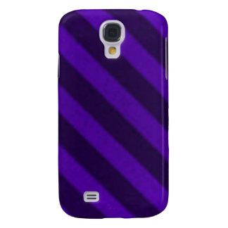 Grunge púrpura Amethyst de la raya del caramelo de Funda Para Galaxy S4
