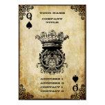 Grunge Queen of Spades Business Card Template