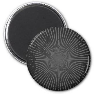 Grunge Radial Pattern: Custom Template 2 Inch Round Magnet