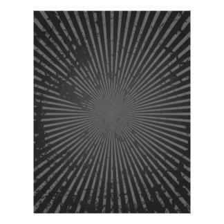 "Grunge Radial Pattern: Custom Template 8.5"" X 11"" Flyer"