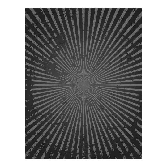 Grunge Radial Pattern: Custom Template Flyer