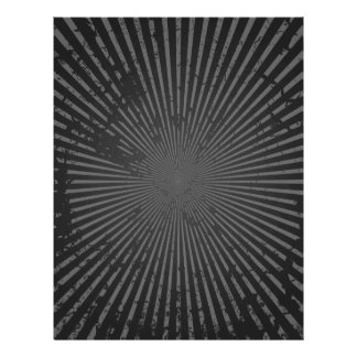 Grunge Radial Pattern: Custom Template Letterhead Design