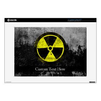 """Grunge Radioactive Symbol 15"""" Laptop Skin"""
