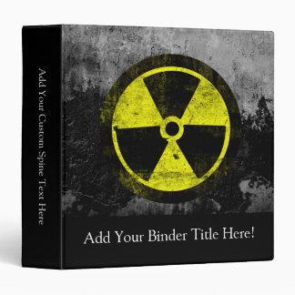 Grunge Radioactive Symbol 3 Ring Binder