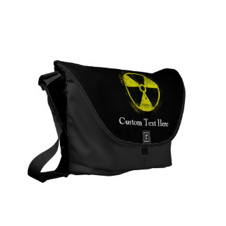 Grunge Radioactive Symbol Courier Bag