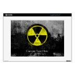 "Grunge Radioactive Symbol Decal For 15"" Laptop"