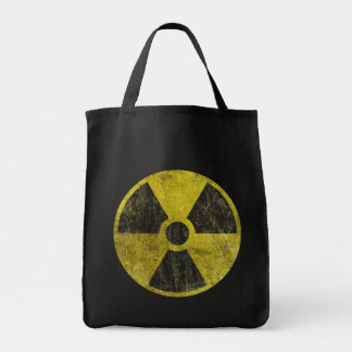 Grunge Radioactive Symbol Grocery Tote Bag
