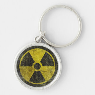 Grunge Radioactive Symbol Keychain