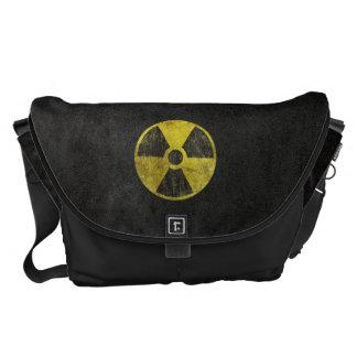 Grunge Radioactive Symbol Messenger Bag