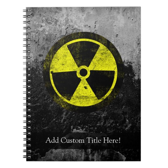 Grunge Radioactive Symbol Notebook