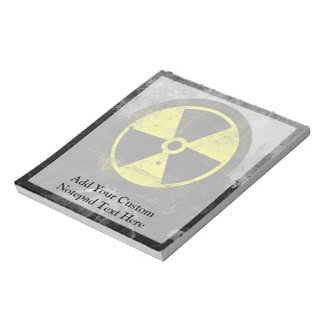 Grunge Radioactive Symbol Notepad