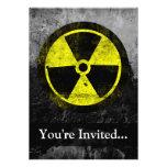 Grunge Radioactive Symbol Personalized Invite