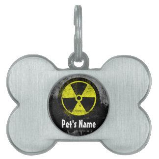 Grunge Radioactive Symbol Pet ID Tag