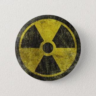 Grunge Radioactive Symbol Pinback Button