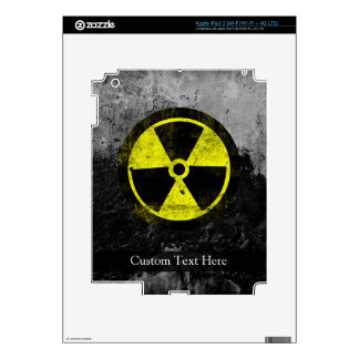 Grunge Radioactive Symbol Skin For iPad 3