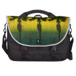 Grunge Rainbow Palm trees Bag For Laptop