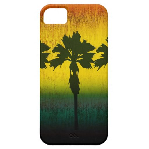 Grunge Rainbow Palm trees iPhone 5 Covers