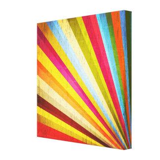 Grunge Rainbow Starbust Canvas Prints